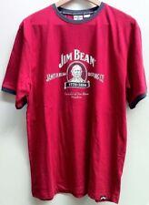 JIM BEAM AUTHENTIC 'JACOB BEAM' MEN'S RETRO RED T-SHIRT NEW SMALL ($29.95rrp)