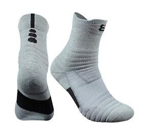3 Packs Men's Cotton Sports Athletic Compression Socks Mid-Crew Training Socks