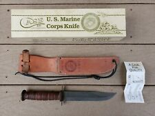 U.S. MARINE CORPS  / USMC COMBAT FIGHTING KNIFE CASE XX 1989 (NEW IN BOX) NICE