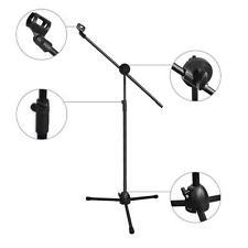 Microphone Stand Dual Mic Clip 360-Degree Rotating Folding Type Boom Arm Tripod~