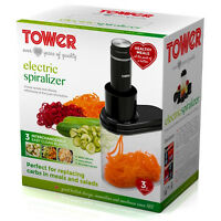 Tower Kitchen Vegetable Fruit Electric Spiralizer Slicing Peeler Cutting Slicer