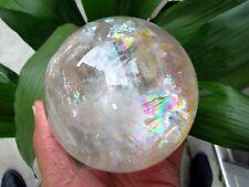 1975g BEST Rainbow NATURAL Clear quartz crystal Sphere ball healing
