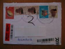 Benachrichtigungslabel + Einschreiben aus Ausland ARGENTINA 2012 Sonderstempel