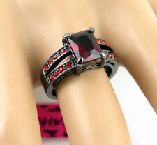 Colour Princess Lady's Ring Size 6 Nobby Betsey Johnson Square red Stone Black
