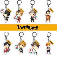 Volleyball Boy Anime Haikyuu Acrylic Keychain Cute Cartoon Keyring CosplayHOT!