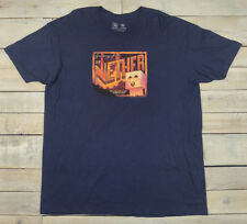 Official MINECRAFT Greetings From the Nether Postcard Navy Blue T-Shirt Size 2X