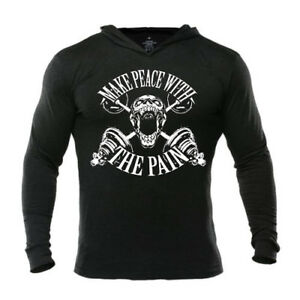 Iron Gods Make Peace W/ The Pain Hoodie Bodybuilding Gym Pullover Workout