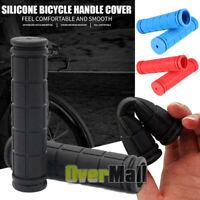 BMX MTB Bike Grips Mountain Bicycle Bike Handle Handlebar Soft Rubber Bar End