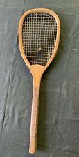 "Antique Tennis Racket Princeton ""B"" Bliss"