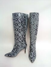 Steve Madden Kinga Women's Knee-High Snakeskin Embossed Boots, 7.5
