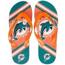 NFL Miami Dolphins Big Logo Unisex Flip Flops Sandals Dolfins Zehentrenner