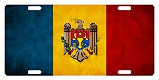 MOLDOVA Flag Custom License Plate NATIONAL Emblem PAPER Version