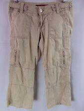 184d0547697 Baby Phat Jean Co Khaki Tan Cargo Crop Capri Pants Women s Size S