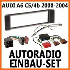 Auto Radioblende Einbauset Rahmen +Kabel für Aktiv AUDI A6 C5/4B - 2000 bis 2004