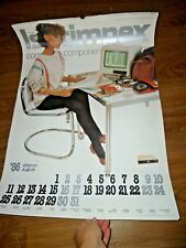 Izotimpex Retro First Computer in Bulgaria Commercial Calendar from 1986