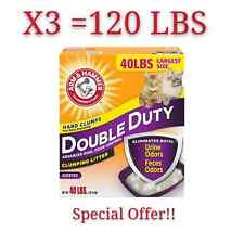 Arm & Hammer Double Duty Clumping Cat,Kitty Litter, Scented 40Lb/120 Lbs To Door