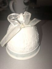 Lladro Porcelain 1992 Christmas Bell Mint Green Spain Ornament No Box