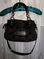 Coach Kristen Op Art Signature Jacquard & Leather Bag 16779
