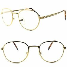 Deadstock Genuine Vintage Fashion Mens Womens Gold Round 3.75 Reading Glasses