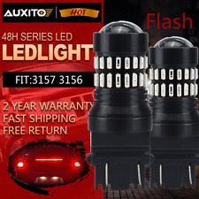 48H Series 3157 Red LED Strobe Flashing Blinking Brake Tail Light/Parking Bulbs