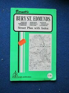 Barnett's Street Plan & Map  - Bury St. Edmunds   c1978