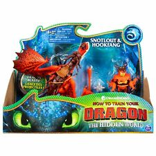 SNOTLOUT & HOOKFANG How To Train Your Dragon (with Armored Viking Figure)