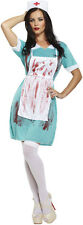 Ladies Womens One Size Zombie Nurse Halloween Party Fancy Dress Costume