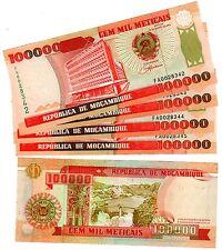 LOT 5 Billets Mozambique 100000 METICAIS 1993 P139 NEUF UNC