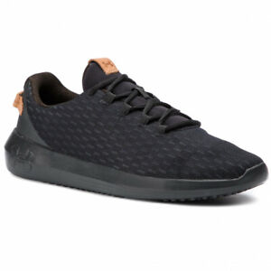 Under Armour UA Ripple Elevated Black Mesh Lightweight Shoes Trainers UK 6 - 11
