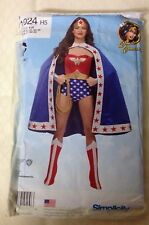 Simplicity Wonder Woman Superhero Costume pattern #1024 Misse Size 6-14 UNCUT