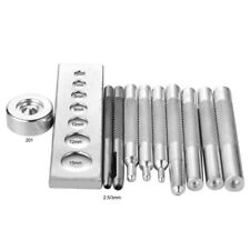 11 Die Punch Tool Snap Rivet Setter Base Kit For DIY Leather Craft Tools