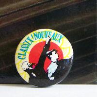 Rare Vintage Pin Metal Pinback 1980s 80s Retro New Wave Classix Nouveaux British