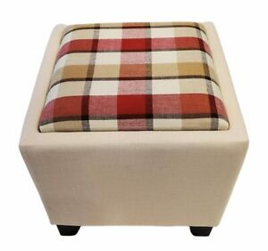Storage ottoman with tray & 2 matching 18x18 inch pillow cases