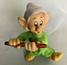 "Disney 3"" Dopey Dwarf Ceramic Figurine Wearing Green & Purple"