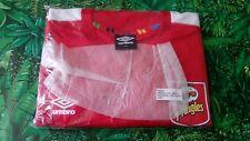 Camiseta manga corta UMBRO FUTBOL pringles Size L/Xl rojo blanco