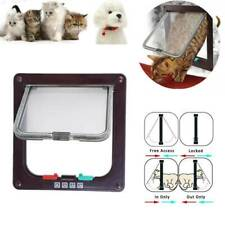 4 Way Pet Cat Puppy Dog Magnetic Lock Lockable Safe Flap Door Gate Frame S