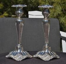 "Pair Wallace Baroque Silverplated #266 Candlesticks 10.25"" 3450 Grams"