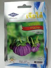 1 g 200 seeds Eggplant Thai Vegetable Plant Chia Tai