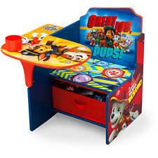PAW Patrol Chair Desk w/ Storage Bin Kids Children Toddler Arts Crafts Play New