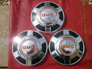 """VINTAGE NOS 1973-77 GMC 12"""" TRUCK DOG DISH POVERTY HUBCAPS WHEEL COVERS"""