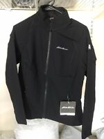 $99 New Eddie Bauer Women's Black Medium Sandstone 2.0 Soft Shell Jacket Coat