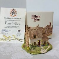 Lilliput Lane Pussy Willow Signed by Sculptor Collector's Club 1992/1993 GUC