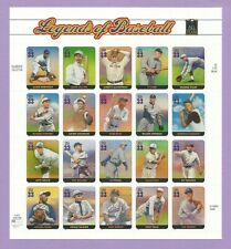 3408  US ...Legends of Baseball.. .Never Hinged Sheet issued year 2000