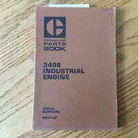 CAT Caterpillar 3406 PARTS MANUAL BOOK CATALOG ENGINE DIESEL INDUSTRIAL 90U1 &UP