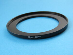 62mm to 82mm Step Up Step-Up Ring Camera Filter Adapter Ring 62-82mm