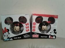 "2 x New Disney Mickey Mouse & Minnie ""Heli Ball"" Sphere Flies Up To 15' combo"