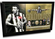 DANE SWAN GOLD CLASS AFL COLLINGWOOD FC LIMITED EDITION PRINT FRAMED MEMORABILIA