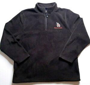 Ball State Cardinals Fleece Jacket Sz Large Black Team Edition Apparel Quarter