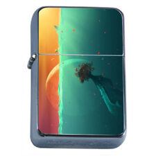 Sea Life Light Em1 Flip Top Oil Lighter Wind Resistant With Case