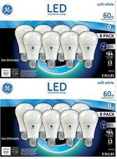 16 GE Lighting LED Softwhite 60w Replacement ( 2 packs of 8 ) 2700K < LEDA19 >